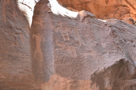 Nabataean inscriptions i Khazali Canyon
