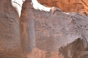 Nabataean inscriptions i Khazali Canyon