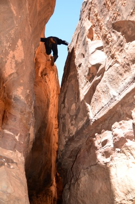 A brave boy in Khazali Canyon, Wadi Rum (1)
