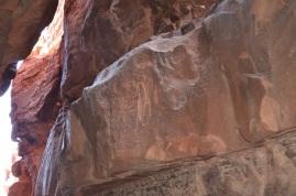 Nabataean inscriptions i Khazali Canyon 2