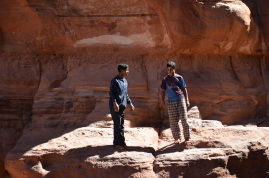 Boys playing in Khazali Canyon