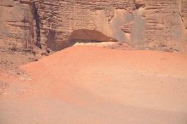 The red sand, Wadi Rum