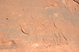 Nabataean inscriptions in Wadi Rum