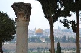 Widok na Wzgórze Świątynne i całą Jerozolimę z Góry Oliwnej