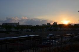 Ostatni blask słońca, we wrześniu dość wcześnie - gdzieś o 18.00