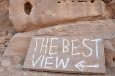 The best view. Petra