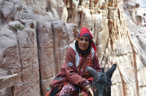 Local Bedouin Woman, making Her way down from the Petra's Monastery