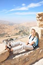 Panorama z zamku Al-Karak