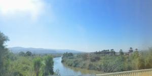 Moment historyczny - przejazd przez rzekę Jordan
