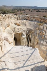 Entrance to one of the caves at Beit Guvrin