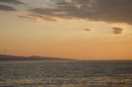 zachód słońca, Brela