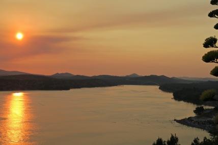zachód słońca w Śibeniku