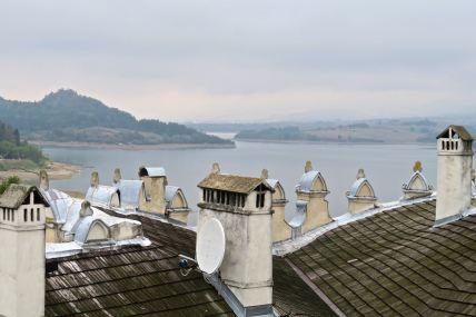 Zamek Dunajec, widok z tarasu