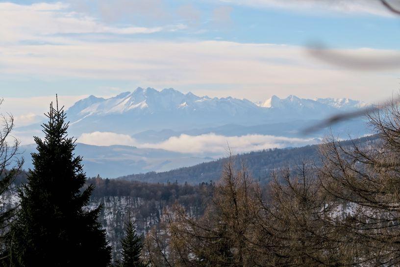 Widok na Tatry z Jaworzyny